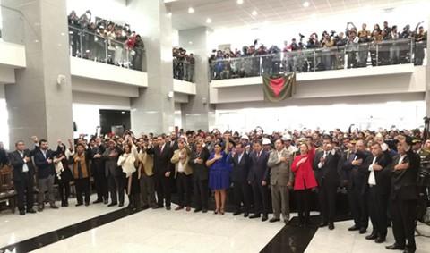 Evo-posesiona-a-su-nuevo-gabinete-ministerial