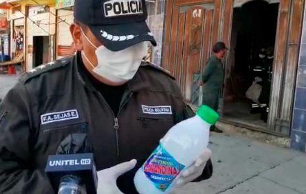 Decomisan-botellas-de-lavandina-adulterada-que-eran-vendidas-en-El-Alto