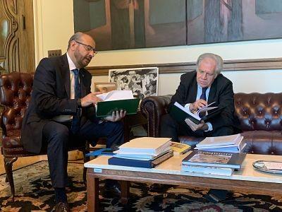 Romulo-Calvo-se-reune-con-el-secretario-general-de-la-OEA,-Luis-Almagro